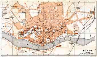 Historical Map Prints Of Porto In Portugal For Sale And Download - Portugal historical map