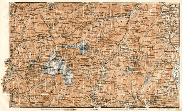 Adamello, Presanella and Brenta Alps district map, 1906. Use the zooming tool to explore in higher level of detail. Obtain as a quality print or high resolution image