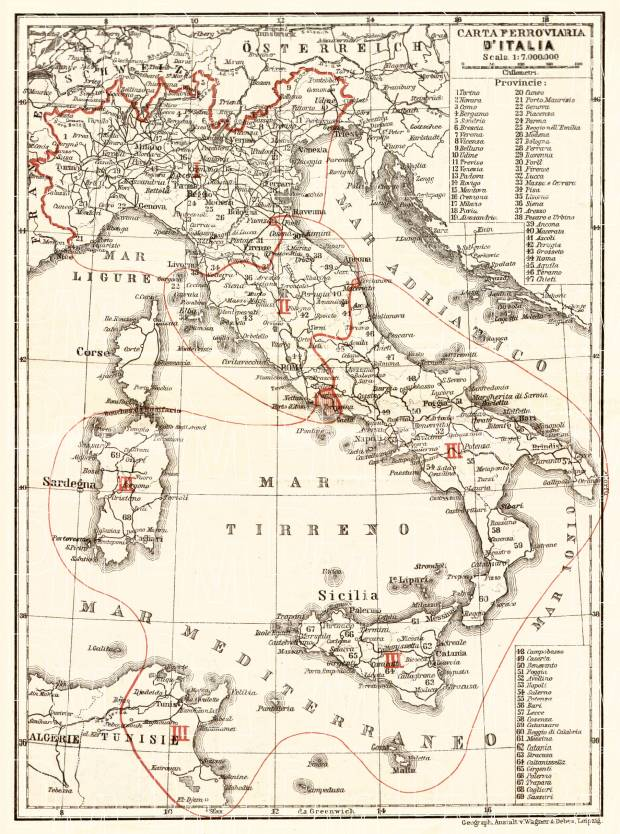 Pics Of Italy Map.Italy Railway Map 1908