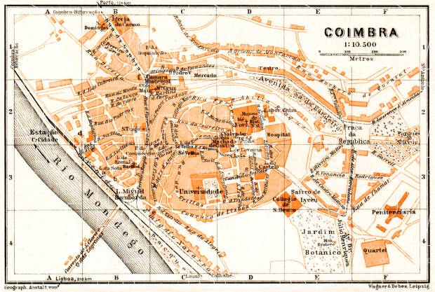 Coimbra city map, 1929. Use the zooming tool to explore in higher level of detail. Obtain as a quality print or high resolution image