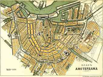 Amsterdam city map, 1900