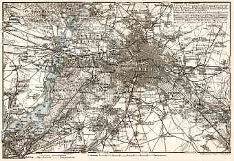 Berlin and environs map, 1902