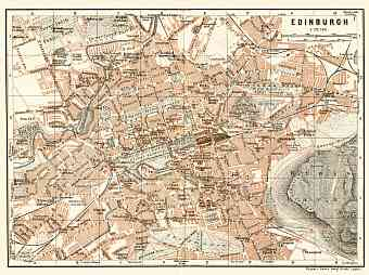 Edinburgh city map, 1906