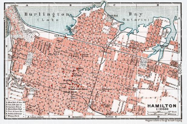 Map Of Canada 1900.Hamilton City Map 1907