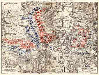 Battle at Metz in August 1870 site map, 1905