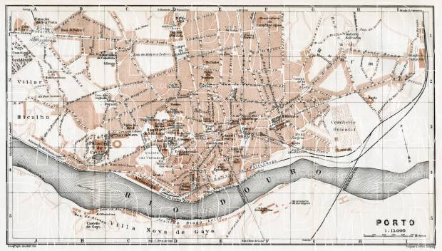 Old map of Porto in 1913 Buy vintage map replica poster print or – Porto Tourist Map