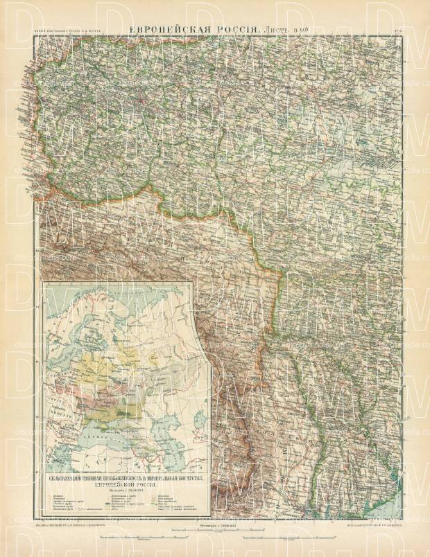 Old Map Of The Polish Governorates Minsk Volyn Podolsk And - minsk map