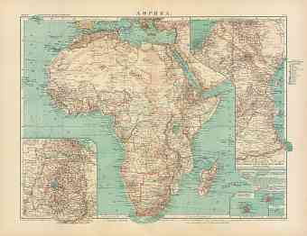 Africa Map (in Russian), 1910