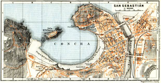 San Sebastián city map, 1929. Use the zooming tool to explore in higher level of detail. Obtain as a quality print or high resolution image