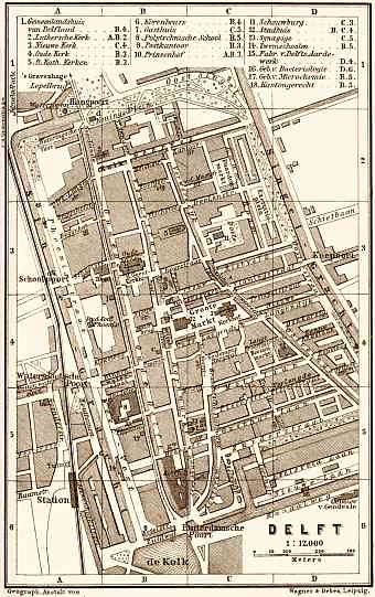 Delft city map, 1904