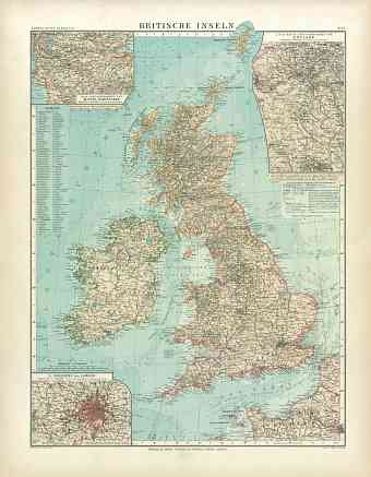 British Isles Map, 1905