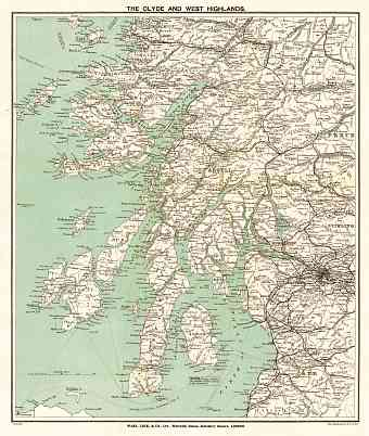 Clyde and the West Highlands map, 1909