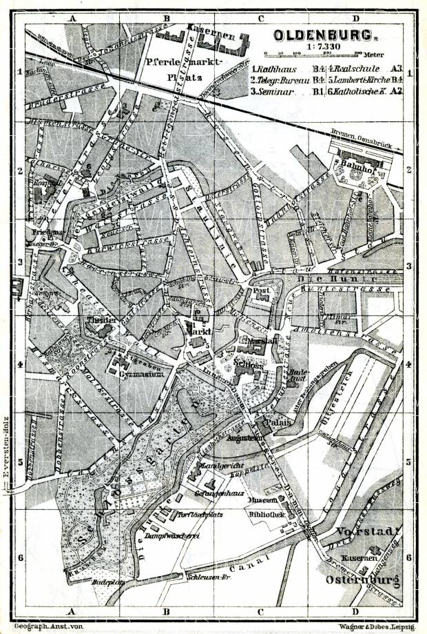 Oldenburg map, 1887. Use the zooming tool to explore in higher level of detail. Obtain as a quality print or high resolution image