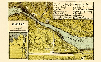 Imatra town plan (in Russian), 1913