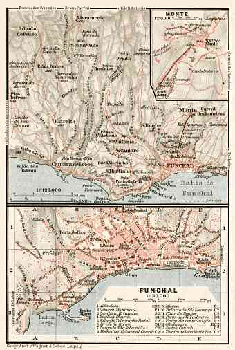Funchal and environs map, 1911
