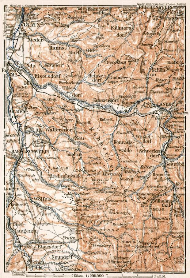 South environs of Klodzko (Glatz), 1911. Use the zooming tool to explore in higher level of detail. Obtain as a quality print or high resolution image