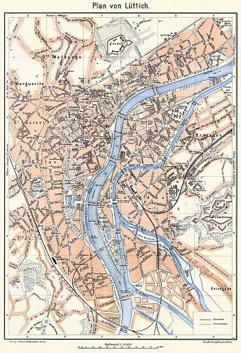 lige lttich city map 1908