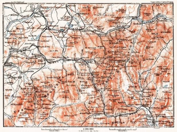 Map of the White Mountains, 1909. Use the zooming tool to explore in higher level of detail. Obtain as a quality print or high resolution image