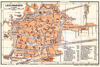 Leeuwarden city map, 1904