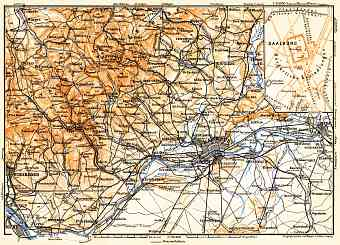 Frankfurt (Frankfurt-am-Main) and environs map, 1905