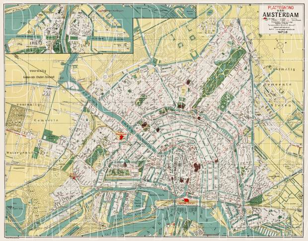 photograph regarding Printable Map of Amsterdam identify Amsterdam metropolis map, 1927-1928