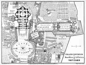 Vatican City (Holy See) map, 1898
