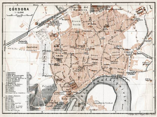 Córdoba city map, 1913. Use the zooming tool to explore in higher level of detail. Obtain as a quality print or high resolution image