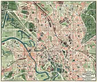 Hannover city map, 1922