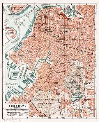 Brooklyn city map, 1909