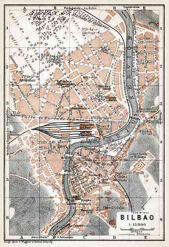 Bilbao city map, 1913