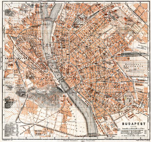 Old Map Of Budapest In Buy Vintage Map Replica Poster Print Or - Vintage budapest map