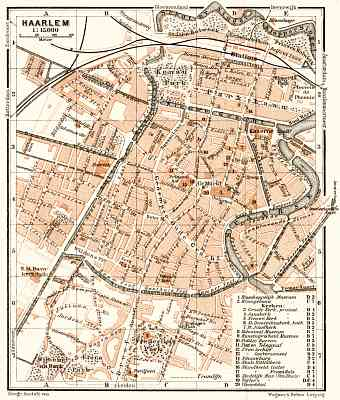 Haarlem city map, 1909