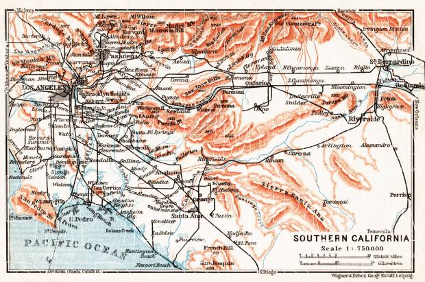 It's just a picture of Printable Map of Southern California intended for easy