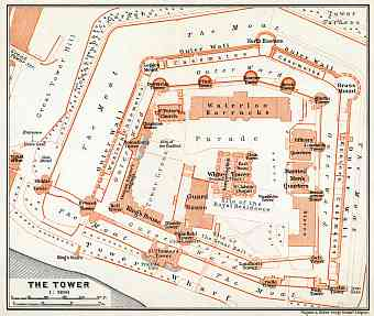 London. The Tower of London plan, 1909