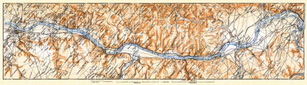 Map of the Course of the Rhine from Bonn to Coblenz, 1906. Use the zooming tool to explore in higher level of detail. Obtain as a quality print or high resolution image