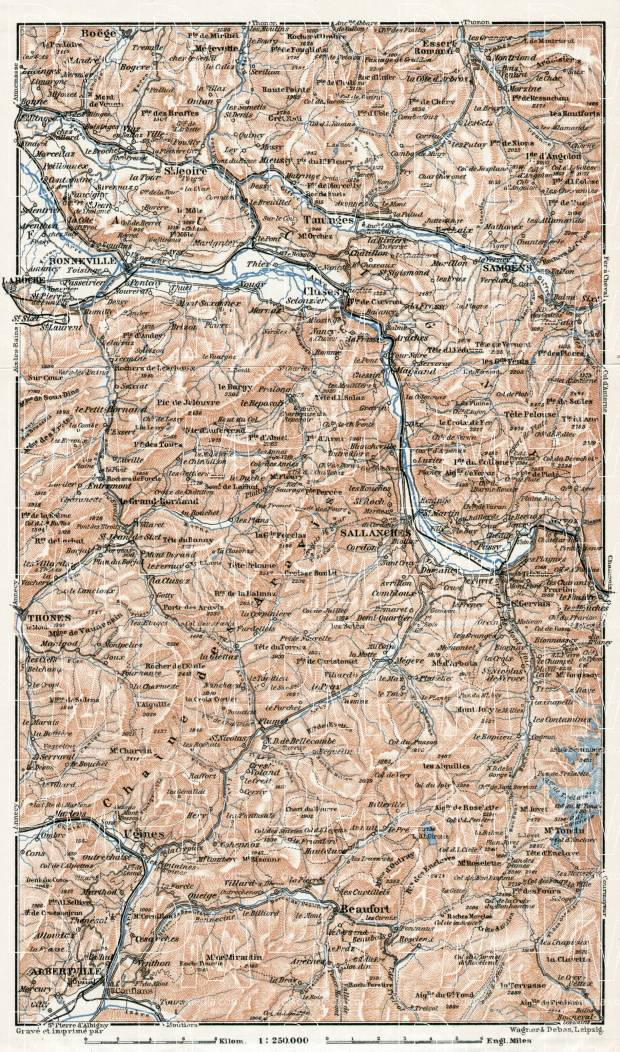 Central Savoy map, 1909. Use the zooming tool to explore in higher level of detail. Obtain as a quality print or high resolution image