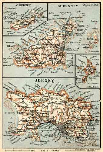 Channel Islands maps, 1913