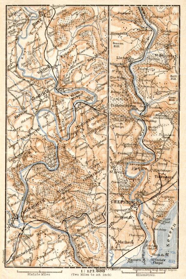 The Valley of Wye map, 1906. Use the zooming tool to explore in higher level of detail. Obtain as a quality print or high resolution image