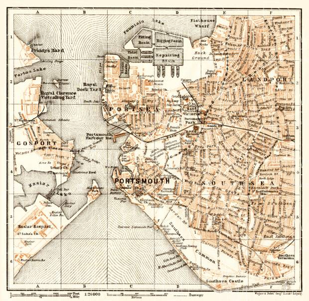 Portsmouth city map, 1906. Use the zooming tool to explore in higher level of detail. Obtain as a quality print or high resolution image