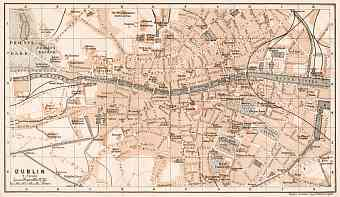 Dublin city map, 1906