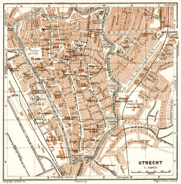 Utrecht city map, 1909. Use the zooming tool to explore in higher level of detail. Obtain as a quality print or high resolution image