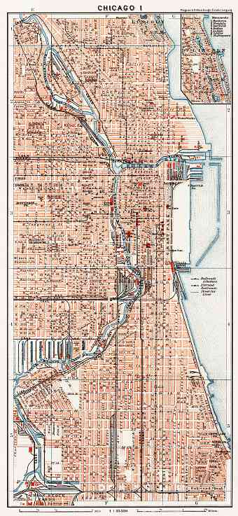 Chicago I city map, 1909