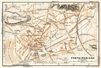 Fontainebleau city map, 1931