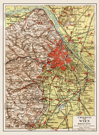 Map of the environs of Vienna (Wien), 1903