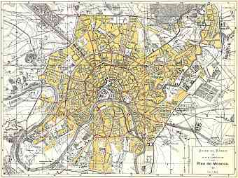 Moscow (Москва, Moskva), city map (in French), 1897