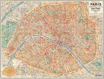 Paris city map, 1928