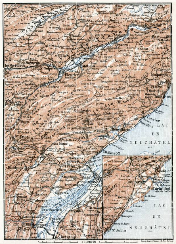 Jura department map, central part, 1909. Use the zooming tool to explore in higher level of detail. Obtain as a quality print or high resolution image