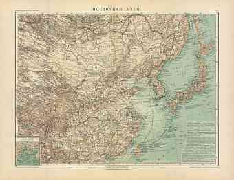 Eastern Asia Map (in Russian), 1910