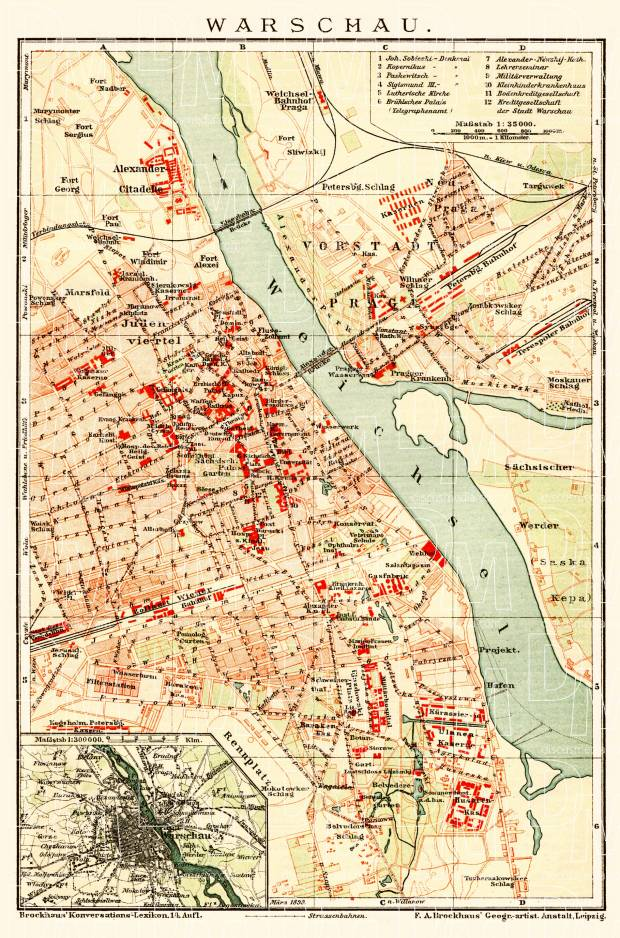 Historical map prints of Warsaw (Warszawa) in Poland for ... on map of poland circa 1900, map of germany and poland, map of 1900 poland genealoy, map of concentration camps, map of ukraine and poland, detailed map of poland, map of poland with cities, map of podkarpackie poland, map prussia berlin, map of poland 1900 1920, map of warmia poland, map of jewish ghettos in poland, easy map of poland, map of ghetto in budapest, map of poland in polish, political map of poland, map of silesia poland, map of jewish ghetto wwii,