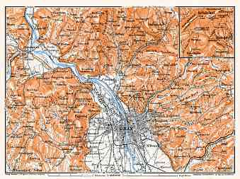 Historical map prints of Graz in Austria for sale and download Map